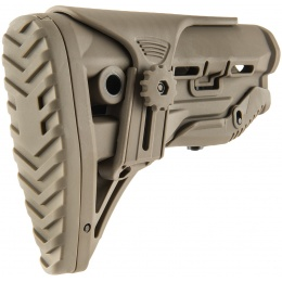Ranger Armory M4 Tactical Stock With Adjustable Cheek Rest - TAN