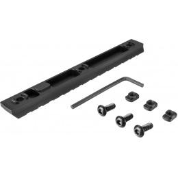 Ranger Armory 13-Slot Aluminum Picatinny Rail Section for M-LOK - BLACK