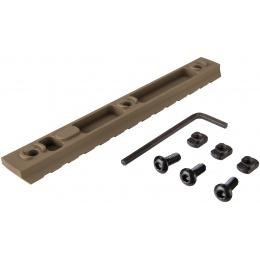 Ranger Armory 13-Slot Aluminum Picatinny Rail Section for M-LOK - TAN
