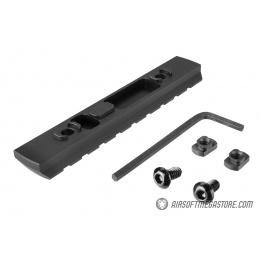 Ranger Armory 9-Slot Aluminum Picatinny Rail Section for M-LOK - BLACK