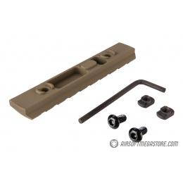 Ranger Armory 9-Slot Aluminum Picatinny Rail Section for M-LOK - TAN