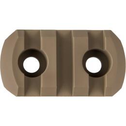 Ranger Armory 3-Slot Aluminum Picatinny Rail Section for M-LOK - TAN