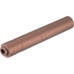 Lancer Tactical 195mm Aluminum Dot Mock Suppressor - COYOTE BROWN