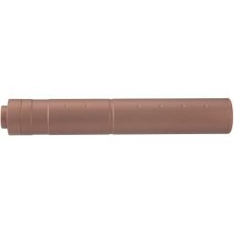 Lancer Tactical 195mm Aluminum Dot Mock Suppressor - COYOTE BROWN