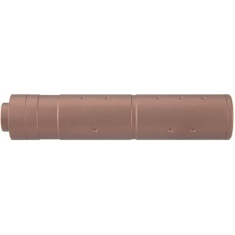 Lancer Tactical 155mm Aluminum Dot Mock Suppressor - COYOTE BROWN