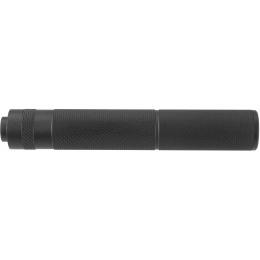 Lancer Tactical 195mm Aluminum Knurled Mock Suppressor - BLACK