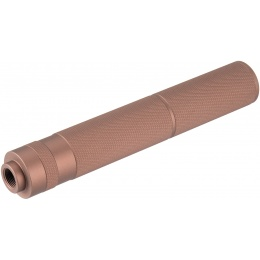 Lancer Tactical 195mm Aluminum Knurled Mock Suppressor - COYOTE BROWN