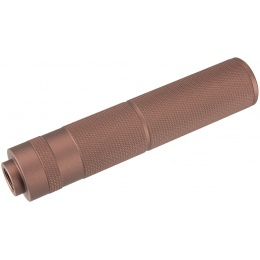 Lancer Tactical 155mm Aluminum Knurled Mock Suppressor - COYOTE BROWN