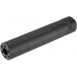 Lancer Tactical 155mm Aluminum Slot-Cut Mock Suppressor - BLACK