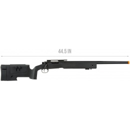 Lancer Tactical M40A3 Bolt Action Airsoft Sniper Rifle - BLACK