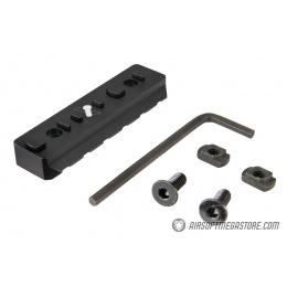 Ranger Armory 6-Slot KeyMod Rail Section - BLACK