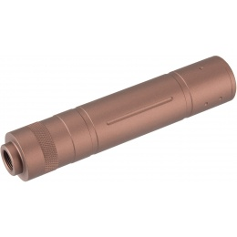Lancer Tactical 155mm Aluminum Slot-Cut Mock Suppressor - Coyote Brown