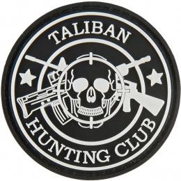 G-Force Taliban Hunting Club PVC Morale Patch - BLACK