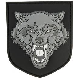 G-Force Shield Gray Wolf PVC Patch - GRAY