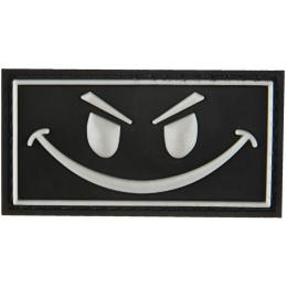 G-Force Dark Evil Smile PVC Morale Patch - BLACK
