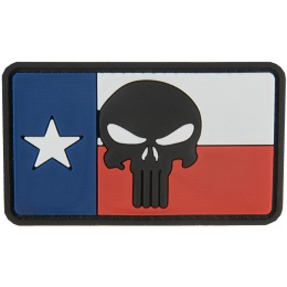 G-Force The Texan Punisher PVC Patch - RED/WHITE/BLUE