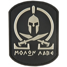 G-Force Molon Labe PVC Morale Patch - BLACK