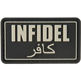 G-Force Infidel PVC Morale Patch - BLACK
