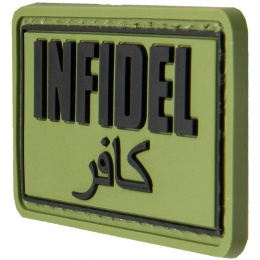 G-Force Infidel PVC Morale Patch - OD GREEN