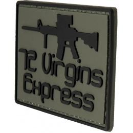 G-Force 72 Virgins Express PVC Morale Patch - BLACK