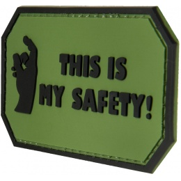 G-Force This Is My Safety PVC Morale Patch - OD GREEN