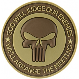 G-Force God Will Judge Our Enemies PVC Morale Patch - TAN