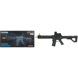 UK Arms P2214 Quad RIS M4 Spring Rifle w/ Adjustable Stock - BLACK