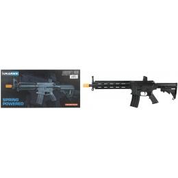 UK Arms P2215 M4 Quad Monolithic RIS Spring Rifle - BLACK