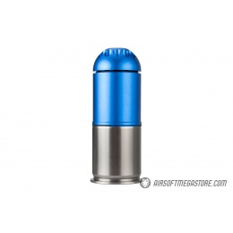 Atlas Custom Works Airsoft 120 Round Grenade Shell - BLUE / SILVER