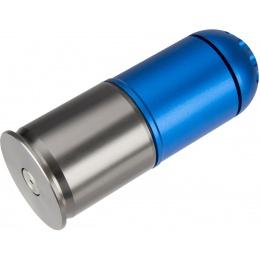 Atlas Custom Works Airsoft 120 Round Grenade Shell - BLUE / SILVER