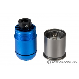 Atlas Custom Works Airsoft 96 Round Grenade Shell - BLUE / SILVER