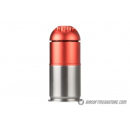 Atlas Custom Works Airsoft Grenade Shell - RED / SILVER