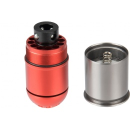 Atlas Custom Works Airsoft Grenade Shell - RED / SILVER