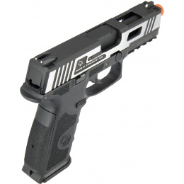 ICS XFG Hairline Gas Blowback Airsoft Pistol - BLACK/SILVER