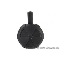 ICS 2000 Round Electric Drum Magazine w/ M4 Adapter - BLACK