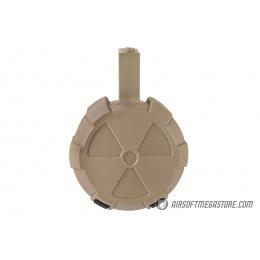 ICS 2000 Round Electric Drum Magazine w/ M4 Adapter - TAN