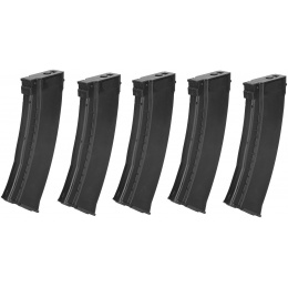 E&L Airsoft 5X 74N Mid-Cap 120Rds AEG Magazine Box Set - BLACK