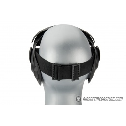 AMA Full Face Airsoft Mask w/ A Full Adjustable Strap - BLACK