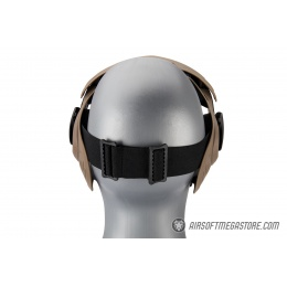 AMA Full Face Airsoft mask w/ A Full Adjustable Strap - TAN