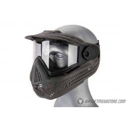 AMA Full Face Airsoft Mask w/ A Full Adjustable Strap - GRAY