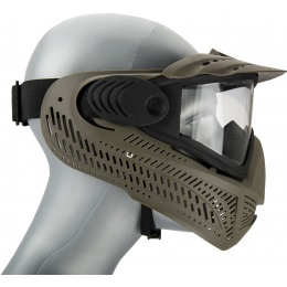 AMA Full Face Airsoft Mask w/ A Full Adjustable Strap - OD GREEN
