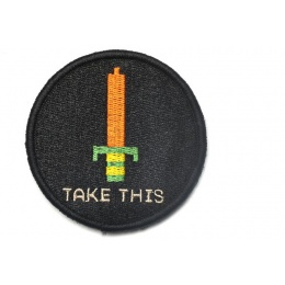 Aprilla Design ITS DANGEROUS TO GO ALONE! Take This Patch - BLACK