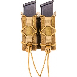 High Speed Gear Double Pistol TACO MOLLE Magazine Pouch - COYOTE BROWN
