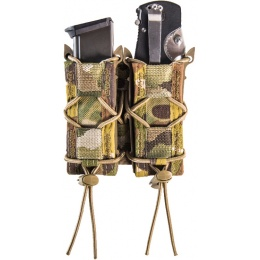 High Speed Gear Double Pistol TACO MOLLE Magazine Pouch - MULTICAM