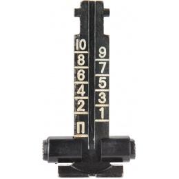 E&L Airsoft AK Series Rear Iron Sight Set - BLACK