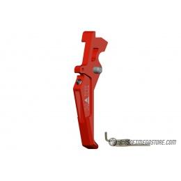 Maxx Model CNC Aluminum Advanced AEG Trigger (Style E) - RED