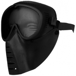 TSD Airsoft Full Face Protection Tactical Mesh Face Mask - BLACK