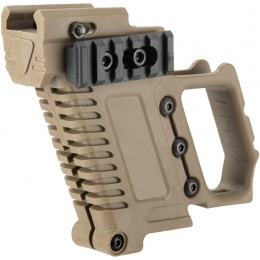 Lancer Tactical Pistol Carbine Kit for G-Series Type GBB Pistols - TAN