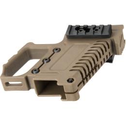 Lancer Tactical Pistol Carbine Kit for G-Series Type GBB Pistols - TAN