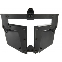 Armory T-shaped Windowed Attachment Face Mask For Bump Helmets - BLACK
